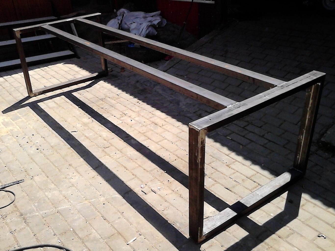 Konstrukcja metalowa pod stolik